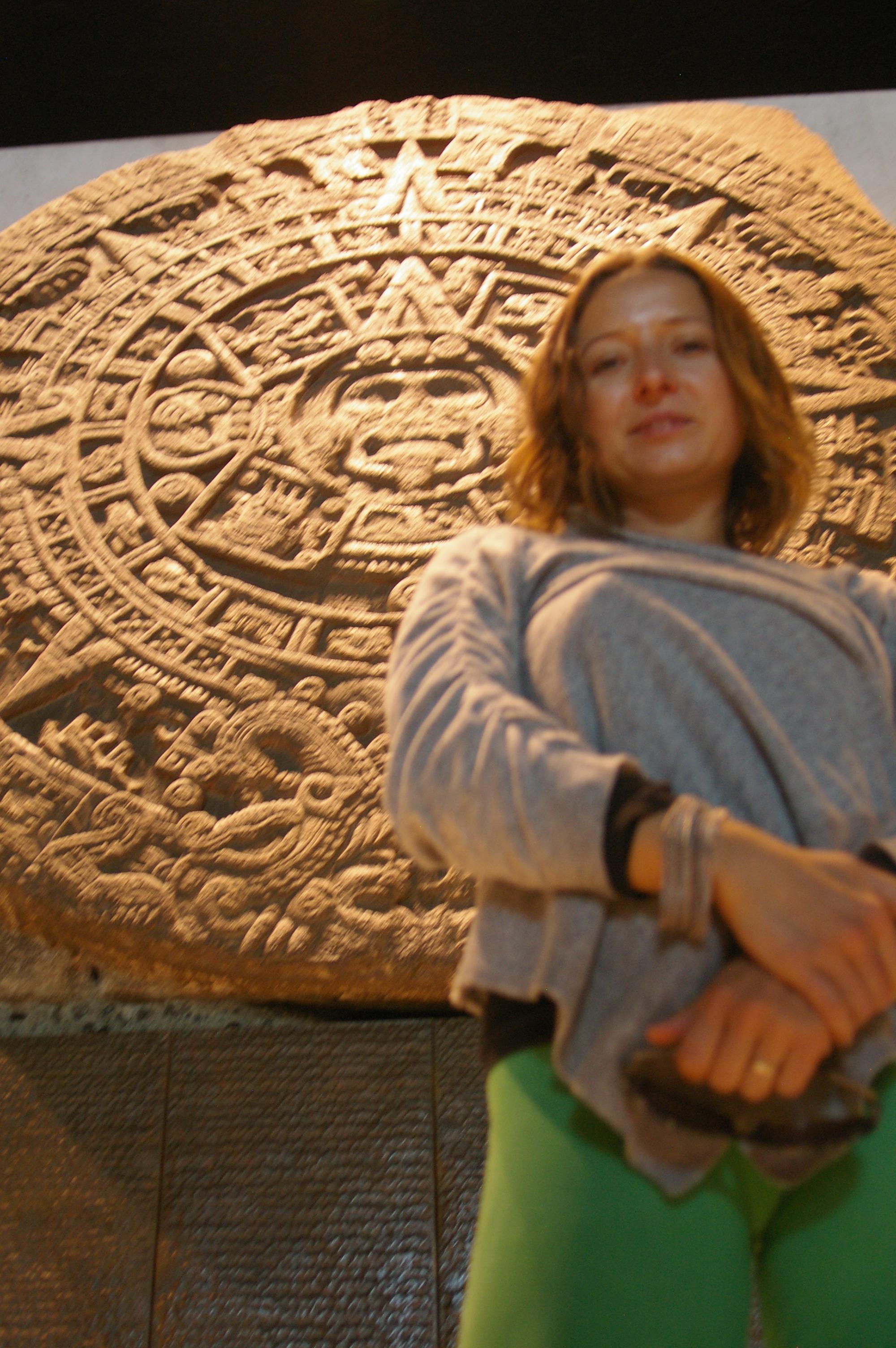 Agnieszka with the Piedra del Sol